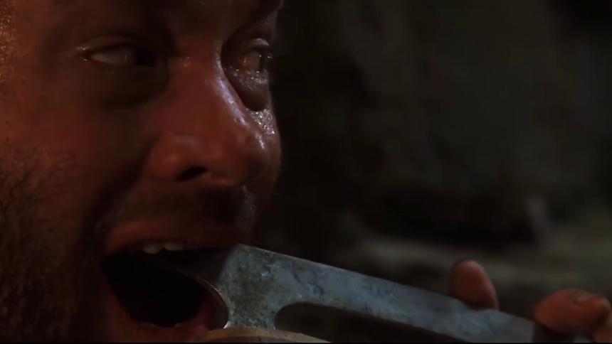 《荒岛余生》汤姆汉克斯冰刀拔牙