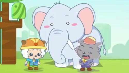 爱洗澡的大象