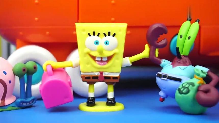 海绵宝宝的公交车儿童玩具